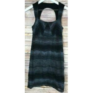 NWOT FREE PEOPLE Black Gray Sleeveless Dress Sz 6